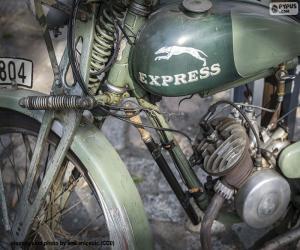 Puzzle Une moto ancienne