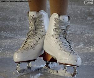 Puzzle Une paire de patins à glace pour le patinage artistique