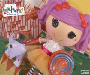 Puzzle Une poupée Lalaloopsy, Peanut Big Top avec son animal de compagnie, un éléphant