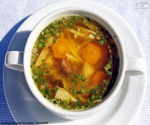 Puzzle Une soupe chaude