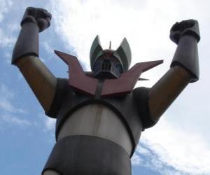 Puzzle Une statue de Mazinger Z