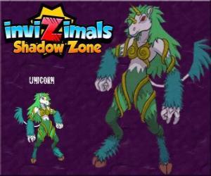Puzzle Unicorn. Invizimals Shadow Zone. Créatures timides, licornes sont très difficiles à trouver