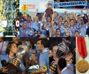 Puzzle Uruguay, champion du Copa America 2011