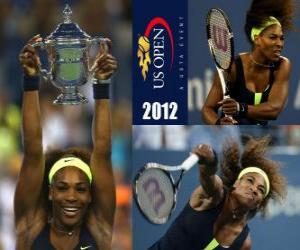Puzzle US Open de tennis Serena Williams champion 2012