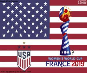 Puzzle USA, championnes du monde 2019