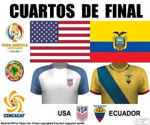 Puzzle USA - ECU, Copa América 2016