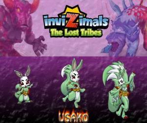 Puzzle Usako, dernière évolution. Invizimals The Lost Tribes. Le mystérieux danseuse est unebelle espione invizimal