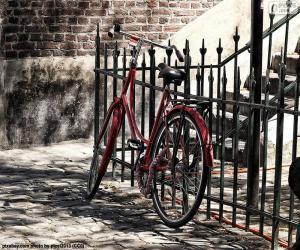 Puzzle Vélo rouge