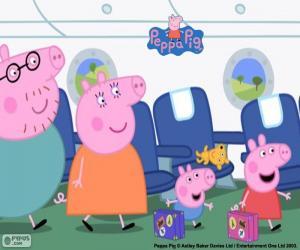 Puzzle Vacances famille de Peppa Pig