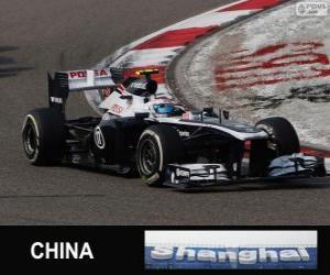 Puzzle Valtteri Bottas - Williams - Shanghai 2013