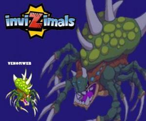 Puzzle Venomweb. Invizimals. Le Venomweb est très rare de voir