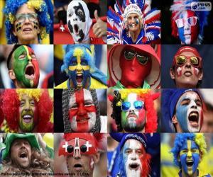 Puzzle Ventilateurs en Euro 2016