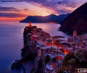 Puzzle Vernazza, Italie
