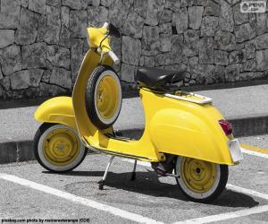 Puzzle Vespa jaune