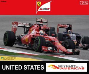 Puzzle Vettel, G.P des États-Unis 2015