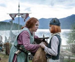 Puzzle Vicky le Viking avec sa mère Ylva
