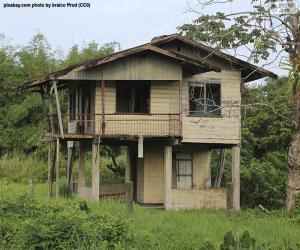 Puzzle Vieille maison dans la forêt