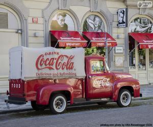 Puzzle Vieux camion de Coca-Cola