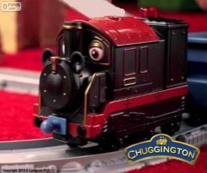 Puzzle Vieux Pete, la locomotive à vapeur est le plus ancien chugger en Chuggington