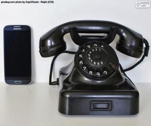 Puzzle Vieux téléphone vs mobile