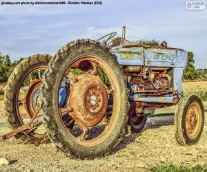 Puzzle Vieux tracteur