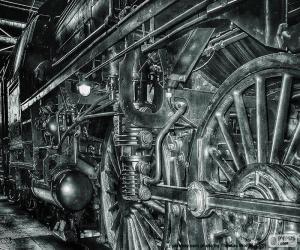 Puzzle Vieux train à vapeur