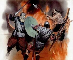 Puzzle Vikings lutte