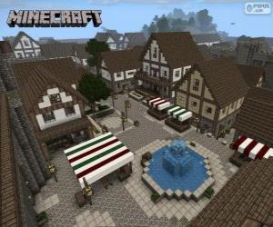 Puzzle Village de Minecraft