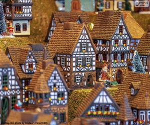 Puzzle Village de Noël