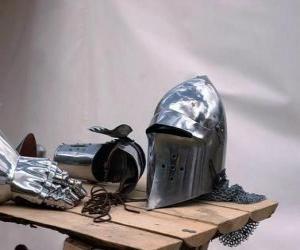 Puzzle Ville et une partie de l'armure d'un chevalier