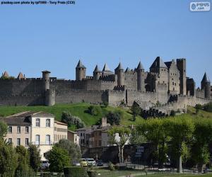 Puzzle Ville fortifiée de Carcassonne, France