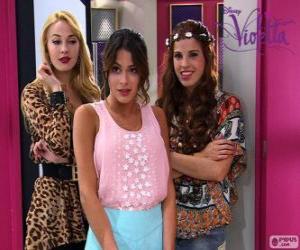 Puzzle Violetta avec Ludmila et Camila