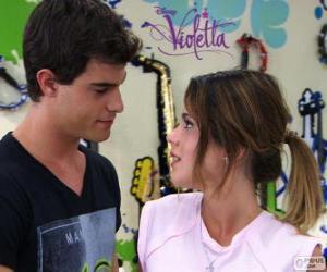 Puzzle Violetta et Diego