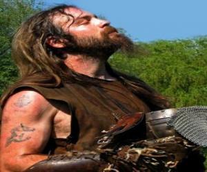 Puzzle Visage de viking avec moustache et barbe
