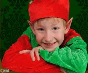 Puzzle Visage d'un elfe de Noël