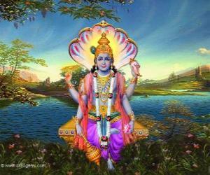 Puzzle Vishnu ou Vichnou, le dieu protecteur de la Trimurti