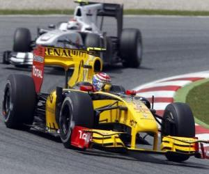 Puzzle Vitaly Petrov - Renault - Barcelone 2010