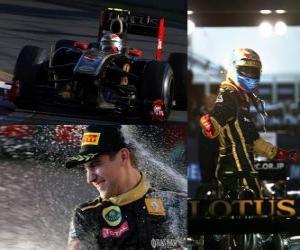 Puzzle Vitaly Petrov - Renault - Melbourne, Australie Grand Prix (2011) (3e place)