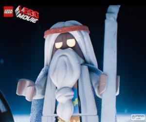 Puzzle Vitruvius, le vieux sorcier du film, la grande aventure de Lego