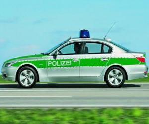 Puzzle voiture de police - BMW E60 -
