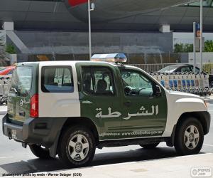 Puzzle Voiture de police de Dubai
