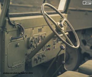 Puzzle Volant d'une Jeep Willys