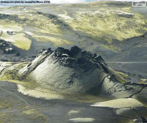 Puzzle Volcan Laki, en Islande