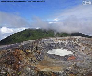 Puzzle Volcan Poás, Costa Rica