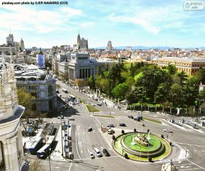 Puzzle Vue de Madrid, Alcalá-Gran Vía