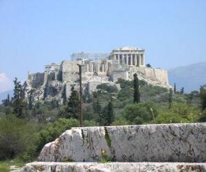 Puzzle Vue des temples de une cité grecque