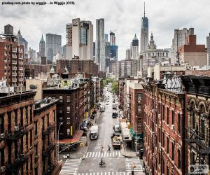 Puzzle Vue rue à Manhattan