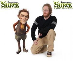 Puzzle Walt Dohm fournit la voix de Rumpelstiltskin, dans le dernier film Shrek 4 ou Shrek, il était une fin
