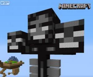 Puzzle Whither, une créature patron dans Minecraft