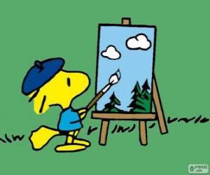 Puzzle Woodstock peintre